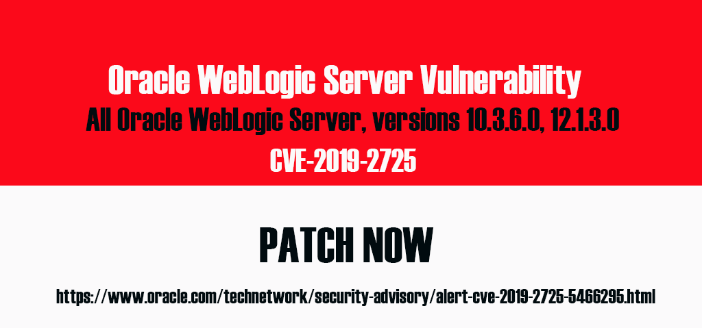 Oracle Weblogic Server Vulnerability CVE-2019-2725 | NCERT